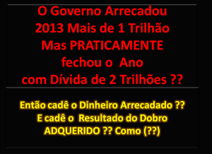 Gastos do Governo federal